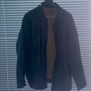 Men's leather jacket heavy weight